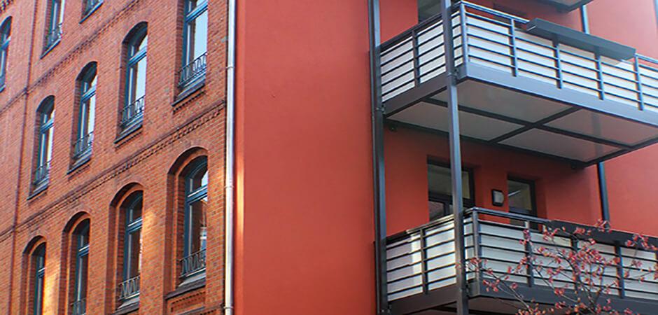 Hannover Franz-Bork-Straße, energetische Sanierung eines denkmalgeschützten Gebäudes mit Dachgeschossaufbau und Aufzugschacht, MACON BAU GmbH Magdeburg