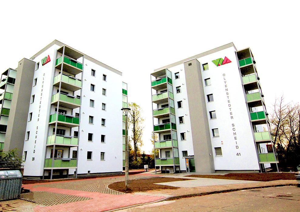 Magdeburg, Olvenstedter Scheid 3941, Planung und Bauleitung nach HOAI, Komplettsanierung in zwei Bauphasen, bewohnt, MACON BAU GmbH Magdeburg