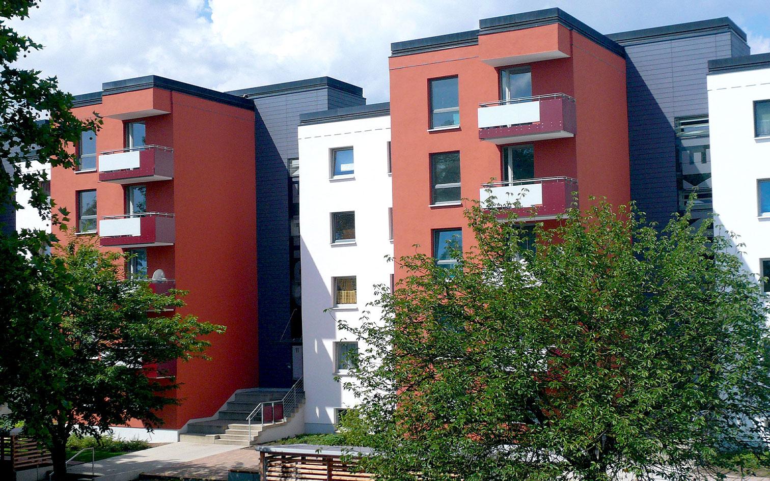 Salzgitter-Freudenberg, Kurt-Schuhmacher-Ring, Komplettsanierung von 60 WE, MACON Bau GmbH Magdeburg